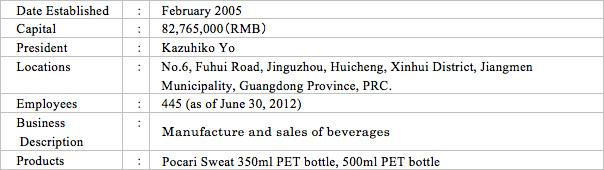 Otsuka Sims (Guangdong) Beverage Co., Ltd