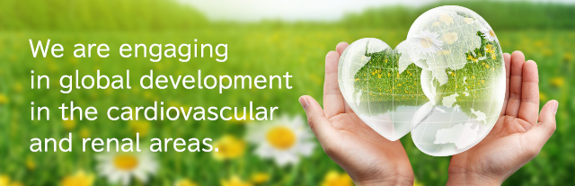 We are engaging in global development in the cardiovascular and renal areas.