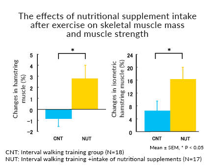 The effects of nutritional supplement intake after exercise on skeletal muscle mass and muscle strength
